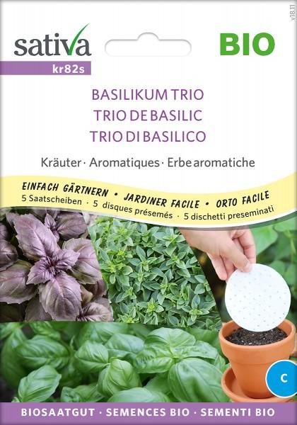 Basilikum TRIO Biosaatgut Sativa