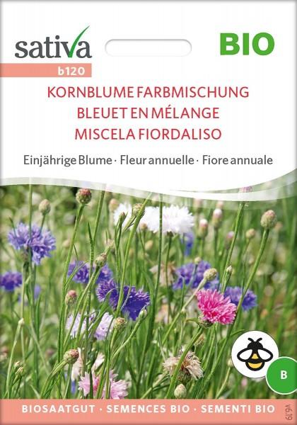 Kornblume Farbmischung - blau-rosa-weiß - Sativa