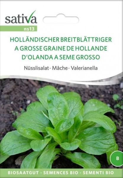 Feldsalat, Ackersalat, Nüsslisalat Holländischer Breitblättriger Bio Samen