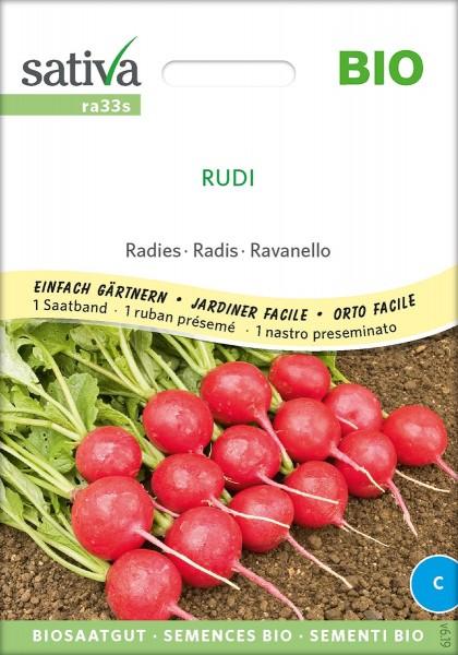 Radieschen Rudi Bio Samen/ Saatband