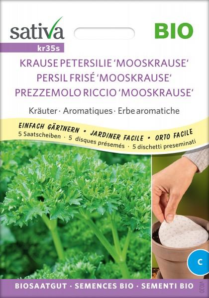 Petersilie Mooskrause, BIO, 5 Saatscheiben