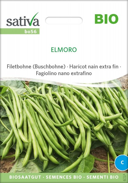 Bohne Buschbohne Elmoro, Biosaatgut Sativa