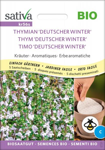 Thymian Deutscher Winter Bio Samen / 5 Saatscheiben