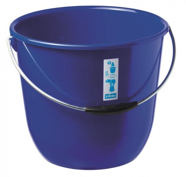Stöckli Eimer 15 l blau lebensmittelecht